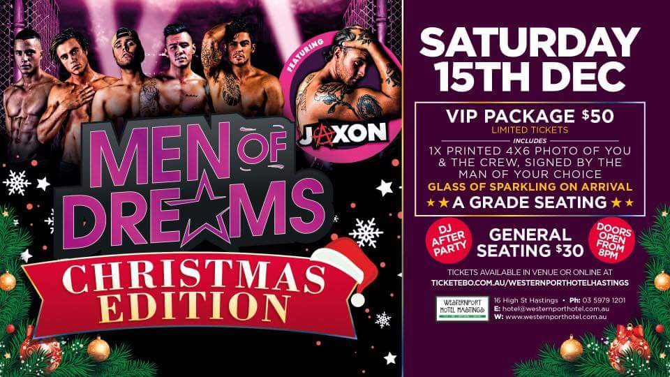 Men of Dreams Experience at westernport hotel hastings