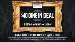$40 Dine in